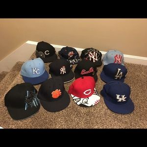MLB Flatbills and some snapbacks $15 each